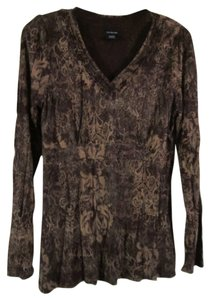 Calvin Klein Longsleeve Top BROWN/PATTERN