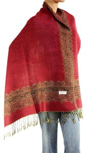 Other Large Double Sided Fringed Pashmina Wrap Scarf Shawl A0902