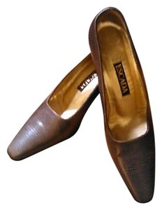 Escada Lizard Brown Pumps