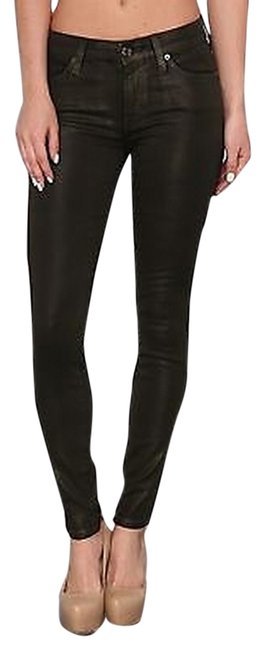 Item - Forest Green Coated The Skinny Jeans Size 25 (2, XS)