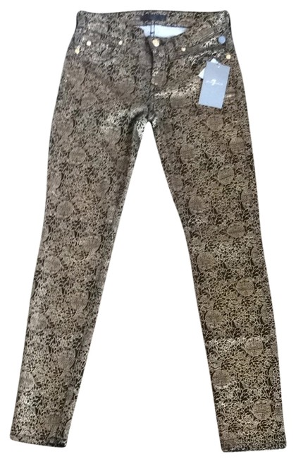 Item - Black and Gold Coated The Skinny Jeans Size 25 (2, XS)