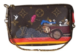 Louis Vuitton Evasion Limited Edition Mini Pochette Monogram Wristlet