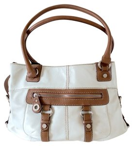 Tignanello Satchel in Cream/Brown