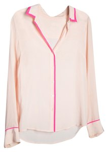 J.Crew Two Tone Fun Work Wear Top Pink