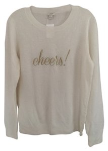J.Crew Cheers Hoilday Party White Sweater