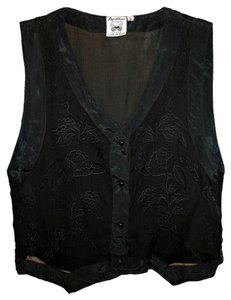 Vintage 1990 Sheer Top Black