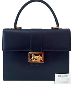 Céline Celine Leather Horse Carriage Satchel