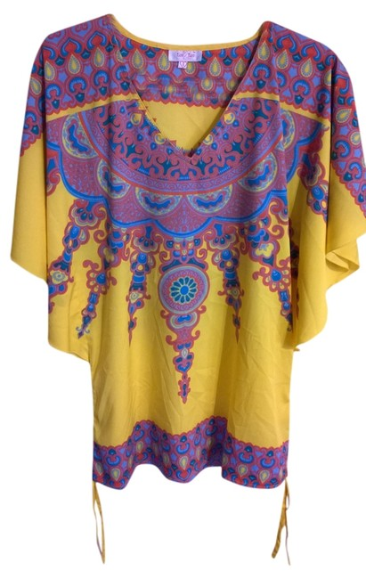 Preload https://item2.tradesy.com/images/yellow-blue-pink-tunic-size-6-s-797411-0-0.jpg?width=400&height=650