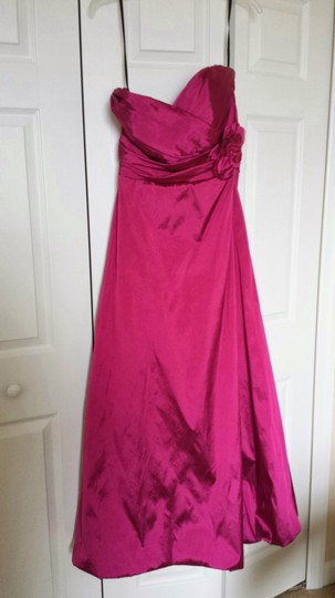 Jim Hjelm Occasions Pink Silk Style 5021 Formal Bridesmaid/Mob Dress Size 14 (L)