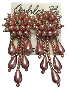 Blush Faux Pearl Earrings (Clip) [ Roxanne Anjou Closet ]