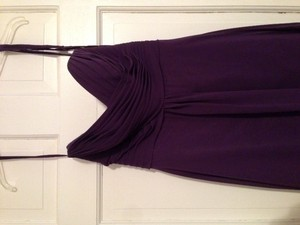 Allure Bridals Eggplant Chiffon 1221 Formal Bridesmaid/Mob Dress Size 8 (M)
