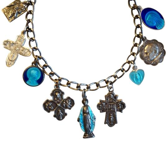 Preload https://img-static.tradesy.com/item/797490/sterling-and-blue-enamel-vintage-religious-guilloche-medal-4-way-cross-charm-bracelet-0-0-540-540.jpg