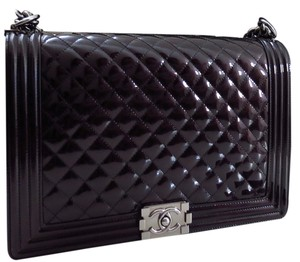 Chanel Patent Le Boy Jumbo Shoulder Bag