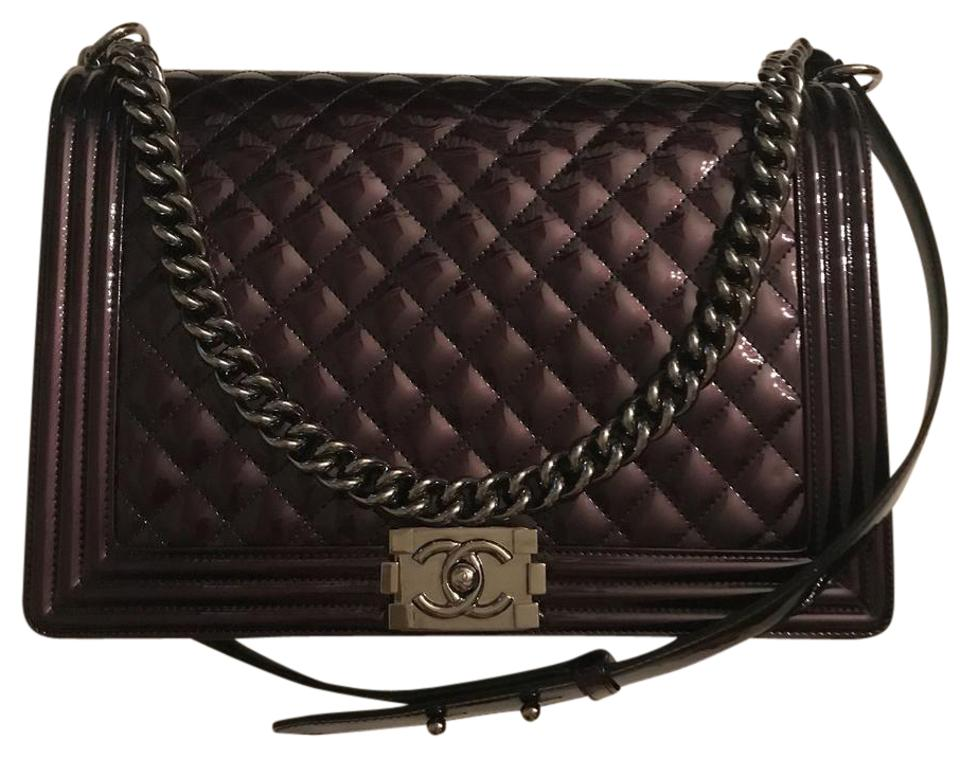 1b59273a86 Chanel Boy Jumbo Le Black Patent Leather Shoulder Bag - Tradesy