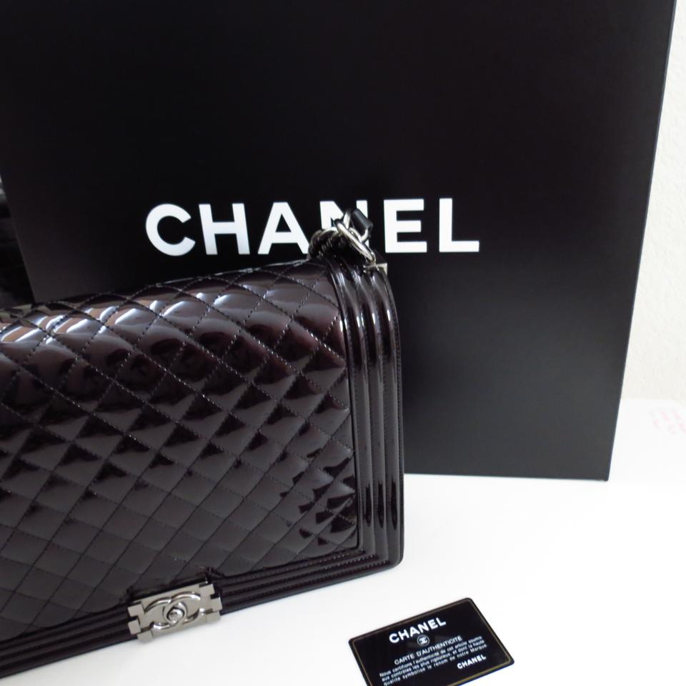 60615dfe28 Chanel Patent Le Boy Jumbo Shoulder Bag Image 11. 123456789101112