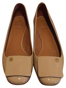 Tory Burch Beige- Patent leather Flats