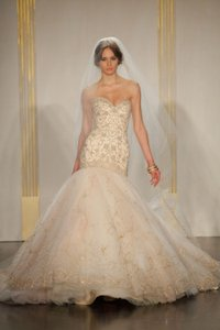 Sherbet/Gold Tulle Sexy Wedding Dress Size 2 (XS)