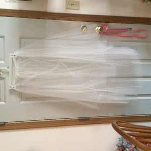 David's Bridal 2 Tier Mid Length Veil `with Sequens