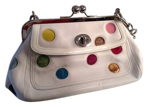 Coach Purse Leather White Clutch