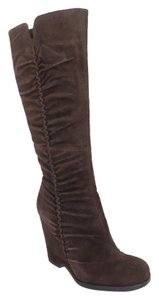 MIA Suede Knee High Boot Brown Boots
