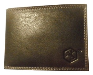 Valentina NEW VALENTINA MEN'S ITALIAN LEATHER BIFOLD CREDIT CARD WALLET BLACK