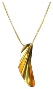 Tiffany & Co. 18k Gold Wave Pendent with 18