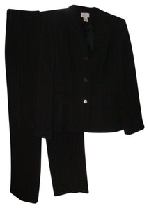 Ann Taylor LOFT Black suit with white stitching