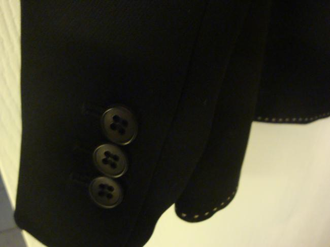 Ann Taylor LOFT Black suit jacket with white stitching