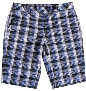 Greg Norman Collection Golf Black plaid Shorts