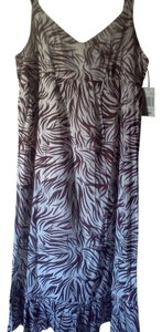 brown/white zebra Maxi Dress by Raviya Stretchy Flowy Sundress Animal Print