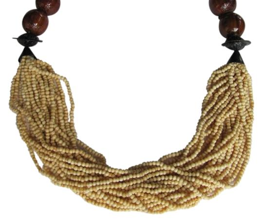 Preload https://item2.tradesy.com/images/brown-tan-black-large-wooden-beads-small-beads-necklace-798076-0-0.jpg?width=440&height=440