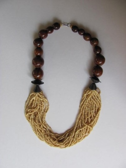 Other LARGE WOODEN BEADS SMALL BEADS NECKLACE