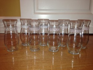 Michaels Clear Vases with Rhinestones Centerpiece