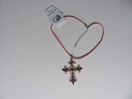 Other NEW WITH TAG CROSS STONES NECKLACE