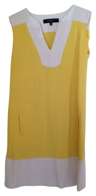 Item - Yellow & White Short Casual Dress Size 4 (S)