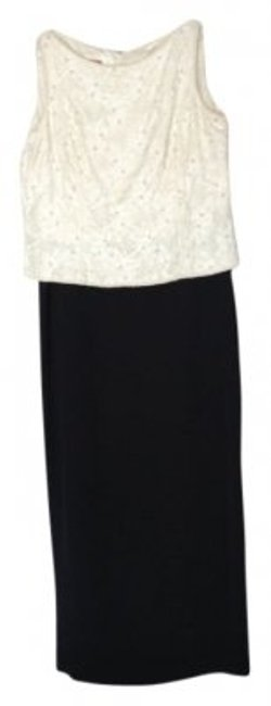 Preload https://item4.tradesy.com/images/talbots-ivory-and-black-knee-length-formal-dress-size-14-l-7983-0-0.jpg?width=400&height=650
