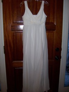 Ann Taylor Silk Crossover Dress Wedding Dress
