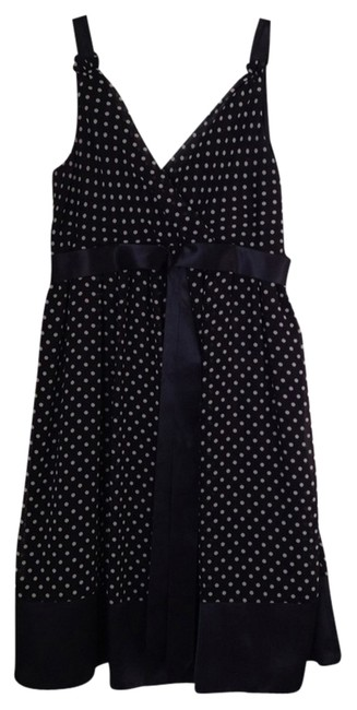 Eliza J short dress Black & White Polka Dot Summmer on Tradesy