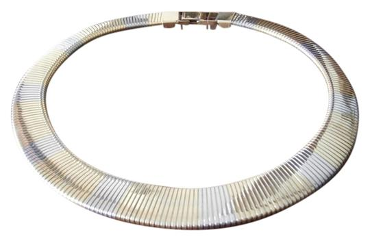 Preload https://item5.tradesy.com/images/gold-and-silver-two-color-flexible-metal-necklace-798439-0-0.jpg?width=440&height=440