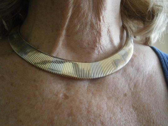 unknown Two Color flexible metal necklace.