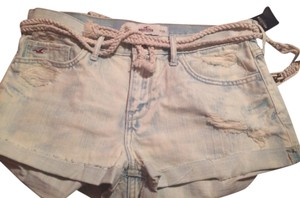 Hollister Shorts Bleached white / Blue Acid