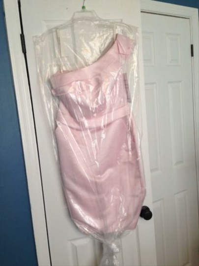 Bari Jay Pink Ice Vienna Satin 427 Formal Bridesmaid/Mob Dress Size 8 (M)