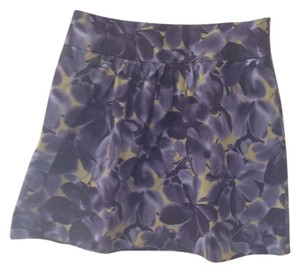 J.Crew Floral Preppy Mini Skirt purple green