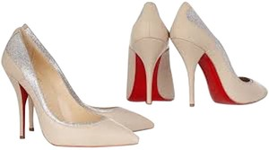 Christian Louboutin Glitter Redbottoms Pointed Toe Pumps