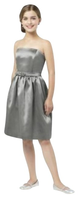 Item - Gray Junior Bridesmaid Jr 509......charcoal Gray.....sz Jb Short Cocktail Dress Size Petite 10 (M)