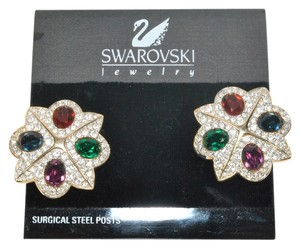 Swarovski Swarovski Gemstone and Crystal Clip Earrings