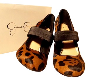 Jessica Simpson Stiletto Real Leather Brand New leopard Print Pumps