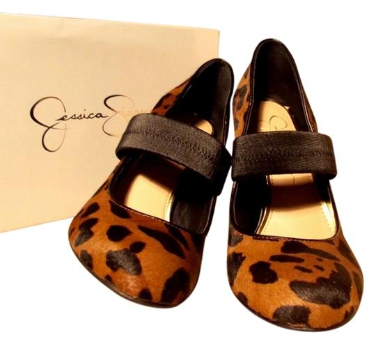 Jessica Simpson Stiletto Real Leather leopard Print Pumps