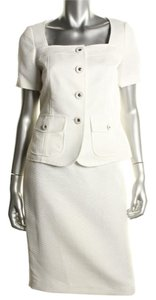 Le Suit Boboli Gardens Ivory 2PC Short Sleeves Knee-Length