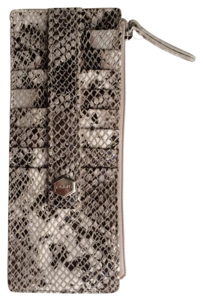 reputable site a9560 19fb3 Lodis Snake Skin Credit Card Holder Wallet